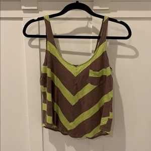 BDG green and brown tank top